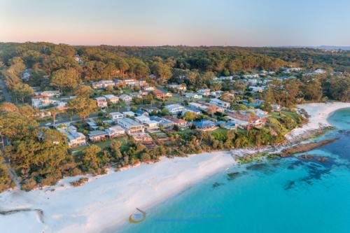 hyams-beach-aerial-drone-sunrise